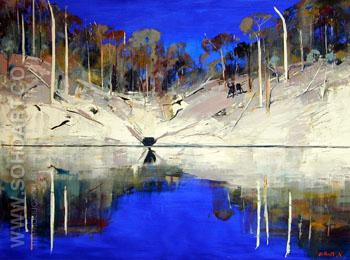 High Noon Shoalhaven - Arthur Boyd reproduction oil painting