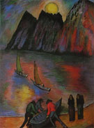 La Grande Luna - Marianne von Werekfin reproduction oil painting