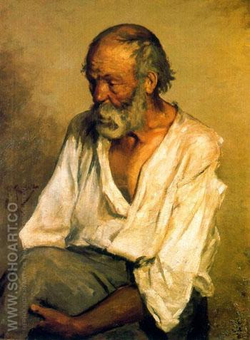 The Old Fisherman 1895 - Pablo Picasso reproduction oil painting