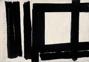 Number 7 1952 - Franz Kline reproduction oil painting