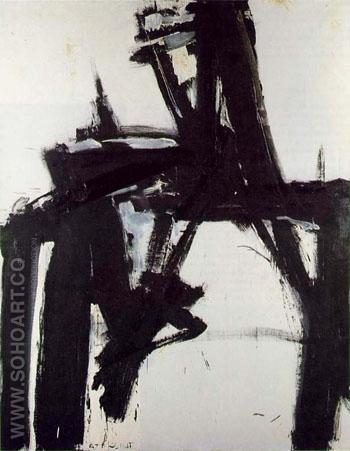 Untitled 1957 2 - Franz Kline reproduction oil painting