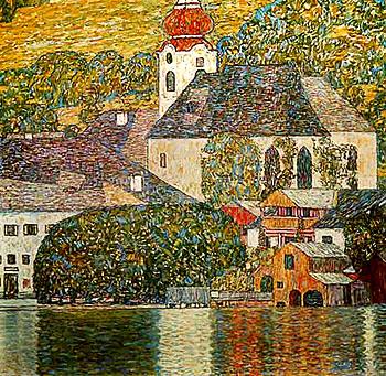 Church in Unterach 1916 - Gustav Klimt reproduction oil painting