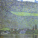 Unterach on the Attersee - Gustav Klimt reproduction oil painting