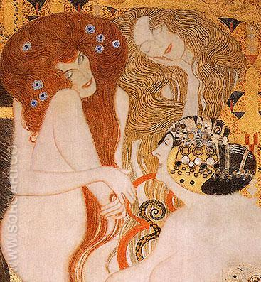 Beethoven Frieze 1902 - Gustav Klimt reproduction oil painting
