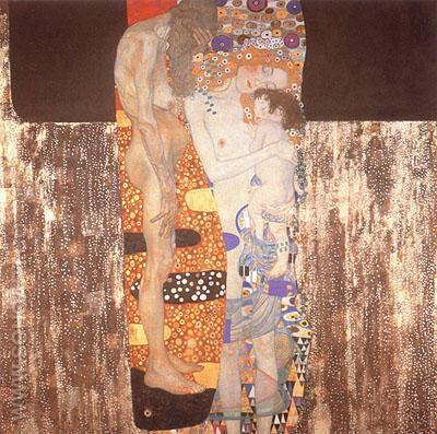 Three Ages of Woman - Gustav Klimt reproduction oil painting