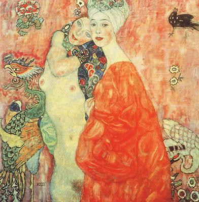 The Girl Friends 1907 - Gustav Klimt reproduction oil painting