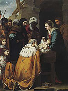 Adoration of the Magi c 1655 - Bartolome Esteban Murillo reproduction oil painting