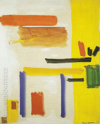 Yellow Hymn 1954 - Hans Hofmann reproduction oil painting