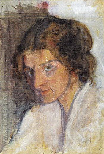 Self Portrait c1897 - Paula Modersohn-Becker reproduction oil painting