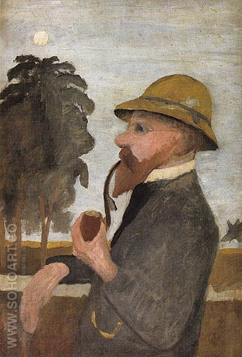 Otto Modersohn with His Pipe c1906 - Paula Modersohn-Becker reproduction oil painting