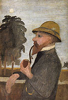 Otto Modersohn with His Pipe c1906 - Paula Modersohn-Becker