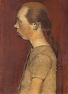 Seated Girl in Profile 1899 - Paula Modersohn-Becker reproduction oil painting