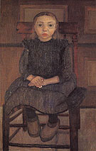 Worpswede Peasant Girl on a Stool 1905 - Paula Modersohn-Becker