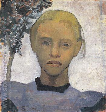 Head of Fair Girl 1901 - Paula Modersohn-Becker reproduction oil painting
