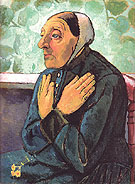 Old Woman Praying 1907 - Paula Modersohn-Becker reproduction oil painting