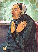 Old Woman Praying 1907 - Paula Modersohn-Becker