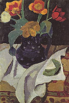 Still Life with Tulips 1907 - Paula Modersohn-Becker reproduction oil painting