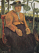 Old Poorhouse Woman c1905 - Paula Modersohn-Becker reproduction oil painting