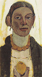 Self Portrait with Lemon c1906 - Paula Modersohn-Becker