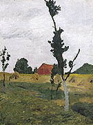 Worpswede Landscape 1900 - Paula Modersohn-Becker reproduction oil painting