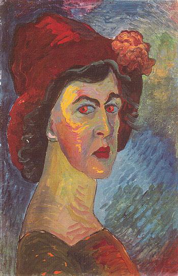 Self Portrait c1908 - Marianne von Werekfin reproduction oil painting