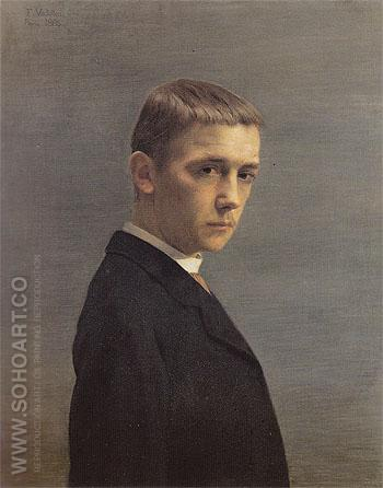 Self Portrait at the Age of Twenty 1885 - Felix Vallotton reproduction oil painting