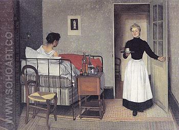 The Sick Girl 1892 - Felix Vallotton reproduction oil painting