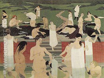 Bathers on a Summer Evening 1892 - Felix Vallotton reproduction oil painting