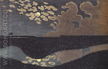 Moonlight 1894 - Felix Vallotton reproduction oil painting