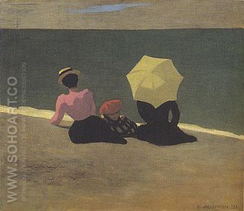 On the Beach 1899 - Felix Vallotton reproduction oil painting