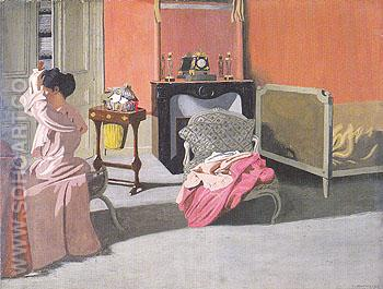 Woman Combing her Hair 1900 - Felix Vallotton reproduction oil painting