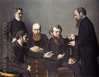 The Five Painters 1902 - Felix Vallotton reproduction oil painting