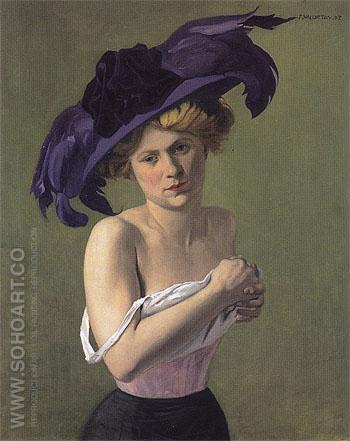 The Purple Hat 1907 - Felix Vallotton reproduction oil painting