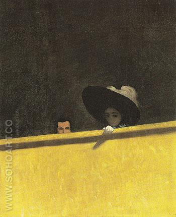 Box Seats at the Theatre a Gentleman and His Lady 1909 - Felix Vallotton reproduction oil painting