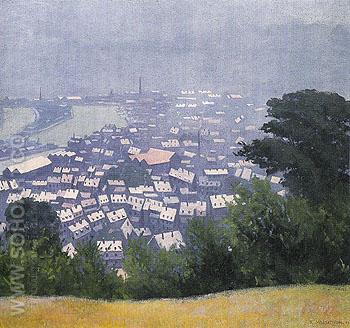 Honfleur in the Mist 1911 - Felix Vallotton reproduction oil painting