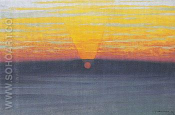 Sunset in the Mist 1911 - Felix Vallotton reproduction oil painting