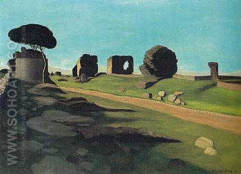 The Via Appia 1913 - Felix Vallotton reproduction oil painting