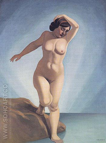 Naked Woman Entering the Water 1915 - Felix Vallotton reproduction oil painting
