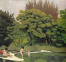 Undergrowth with Women Bathing 1918 - Felix Vallotton reproduction oil painting