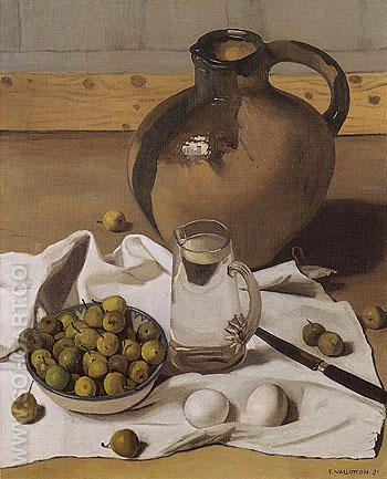 Large Jug Pears and Eggs 1921 - Felix Vallotton reproduction oil painting