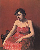 Romanian in a Red Dress 1925 - Felix Vallotton reproduction oil painting