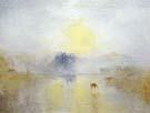 Norham Castle Sunrise c1845 - Joseph Mallord William Turner reproduction oil painting