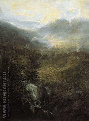 Morning amongst the Coniston Fells Cumberland 1798 - Joseph Mallord William Turner reproduction oil painting