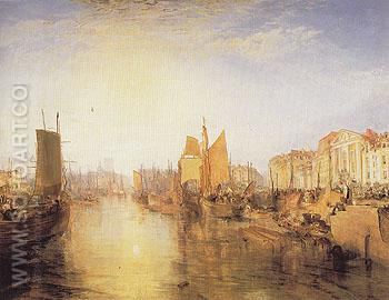 Harbour of Dieppe 1825 - Joseph Mallord William Turner reproduction oil painting