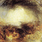 Shade and Darkness the Evening of the Deluge 1843 - Joseph Mallord William Turner reproduction oil painting