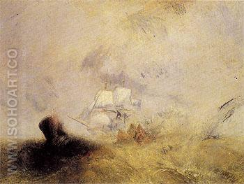 Whalers 1845 - Joseph Mallord William Turner reproduction oil painting
