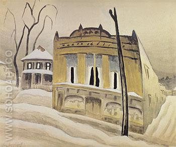 The Corner Store 1918 - Charles Burchfield reproduction oil painting