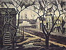 Spring Twilight 1920 - Charles Burchfield reproduction oil painting