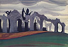 Gothic Landscape 1919 - Charles Burchfield reproduction oil painting