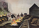 Coke Ovens at Night 1920 - Charles Burchfield